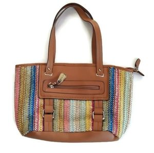 Rosetti Straw Multicolored Hand Bag